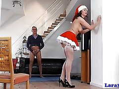 British mature involving Christmas outfit fuck