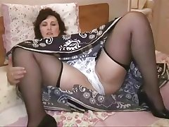 Mature near stockings