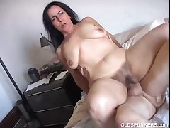 Gorgeous mature mollycoddle Nina enjoys a hard fucking