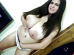 Blue grown-up mother and mother with hungry vaginas