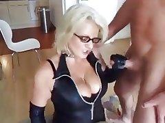 light-complexioned mature fucks her husband