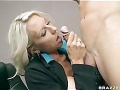 Fat TIT BLONDE MILF Hotshot IN STOCKINGS FUCK Fat DICK Meeting WORKER