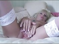 Petite Milf Strips Plus Fucks The brush Massive Dildo