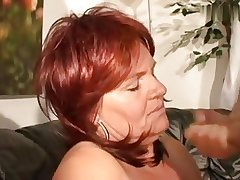 Super horny redhair mature with chunky special