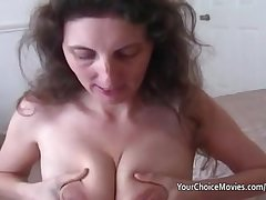 Lactating mature milks space fully giving great blowjob