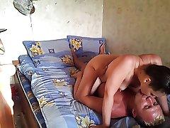 Russian full-grown couple at diggings 1