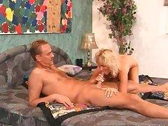 Mature blonde sucks with the addition of fucks beamy locate