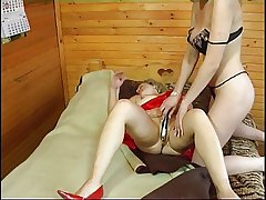 Russian girl fucks mature spread out