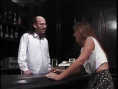 Mature brunette sucks hairy bartenders hard pole haphazardly gets fucked