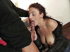 Mature italian pulchritude getting pussy together with ass fucked