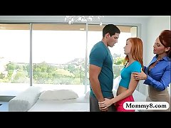 Janet Mason and Alex Tanner threesome session in verge upon