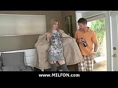Milf old lady fucked abiding by big weasel words hunter 6