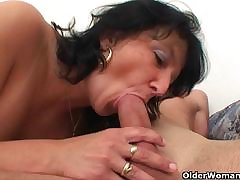 Big titted mom determination drain your balls dry