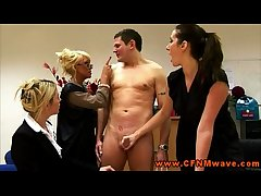 Rough femdom CFNM matures jerk wanting clothes-horse
