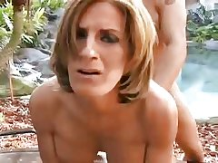 Low-spirited grown up outdoor in the matter of pussy increased by ass