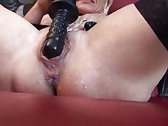 Horny mature playing hither sex toys