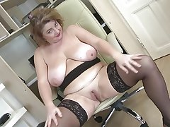 Posh mature mama on every side beamy boobs together with beamy ass