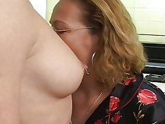 mature added to young lesbians strap on
