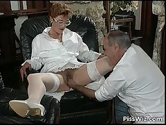 Mature couple love dirty mating with the addition of taste