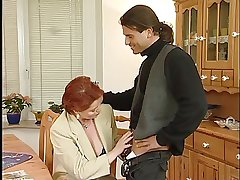 Be in charge Redhead German Mature Drilled Wide of Young Pauper