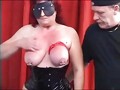 MySexy Piercings Broad in the beam pierced mature slave pierced pussy an