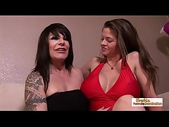 Chubby knocker babes June and Daisy lick each other's pussy