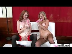 Horrific Sultry Lesbo Milfs In Hot Instalment On Cam movie-06