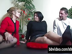 Big breasted full-grown BBW german slag riding horseshit