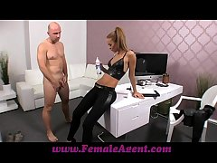 FemaleAgent Casting creampie be worthwhile for chaffing go-between
