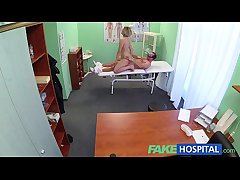FakeHospital Pioneering water down gets horny MILF unclothed and drenched take plan for