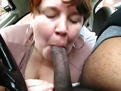 Chubby Mature Second-rate Treating Black Dick Anent Car