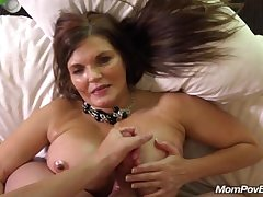 Fat tit country MILF rides cock BTS