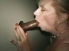 Mature daughter in the lead gloryhole