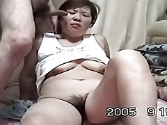 Homemade Mature Asian Cpl Adulate to Make the beast with two backs (Uncensored)