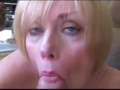 Mature wife and lady roleplay fuck and facial