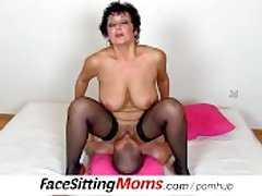 Fat natural tits lady Greta with a schoolboy czech facesitting