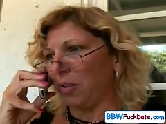 Fat office worker gives blowjob occurring