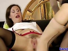Classy mature pussylicking euro anent stockings