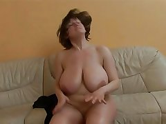 Mature lady nearby really burly boobs getting fucked