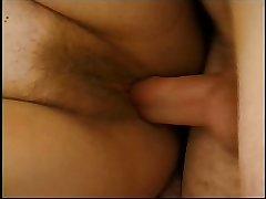 Matured blonde gets her pierced boobs sucked onwards fuck