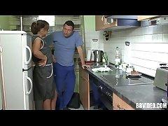 German mature whore eat dick apropos kitchen