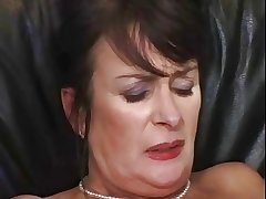 Old mature lady masturbating coupled with having it away