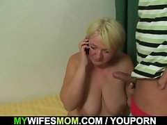 Busty girlfriends mother sucks with the addition of rides his cock