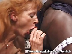 Adult Upper-cut Slut Has Trilogy With Black And White Dudes
