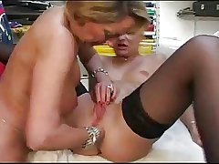 French full-grown lesbians toying and anal fisting