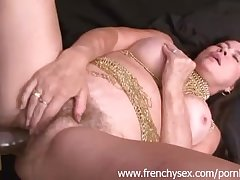 French mature woman in triple with BBC
