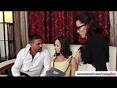 Erotic threesome with prex hot teen pornstar Jada Stevens