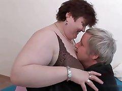 Mature BBW enjoying sex.