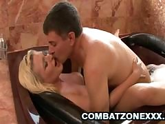 Tabitha James gets greater than will not hear of knees to all round a blowjob