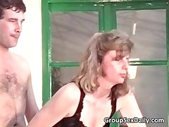 Two horny mature couples are shagging